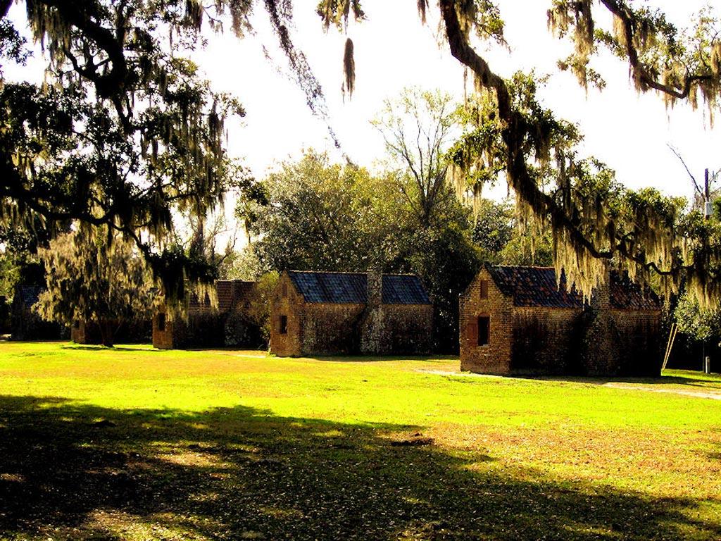 Boone Hall Plantation Slave Cabins 2009 Charleston County South Carolina