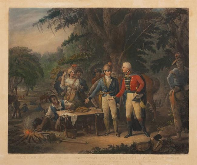 Francis Marion and British Officer